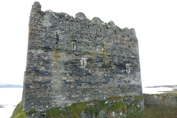 Mingary Castle with rock-cut ditch