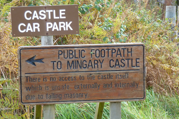 Car park for Mingary Castle