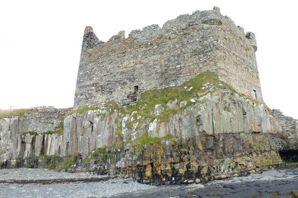 Mingary Castle on rocky promontory