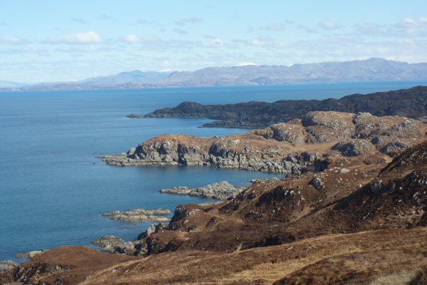 Lovely views of the Ardnamurchan coastline
