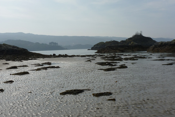Peanmeanach beach looking towards Moidart