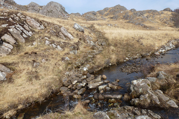 The stream crossing may be difficult after wet weather