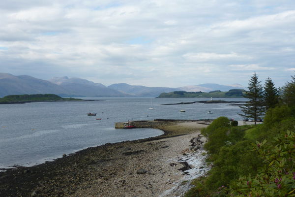 The coastline and views by Port Appin