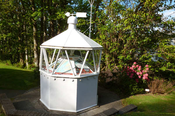 The Lighthouse lantern serving as an interpretation point