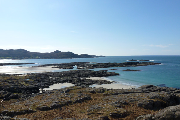 Looking back over anna Bay to Ardnamurchan Point