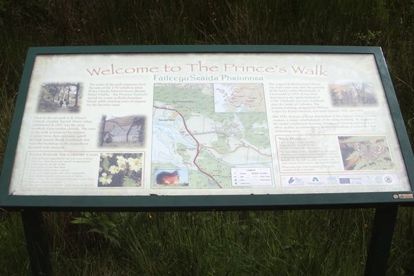 The Prince's walk information board
