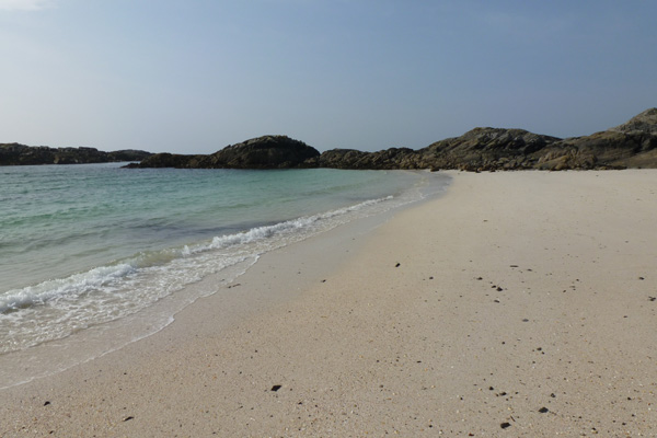 The silvery sands of Port nam Murrach
