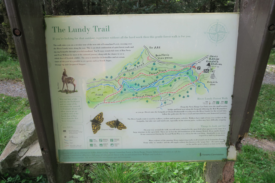 Interpretation board at the start of The River Lundy Trail
