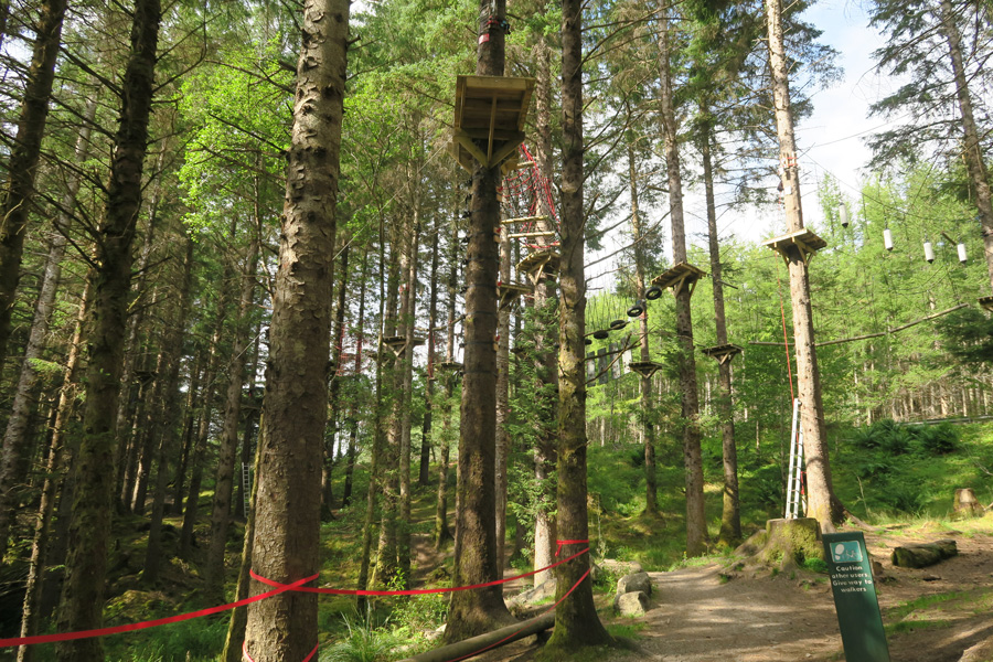 Passing through the High Wire Adventure Trail