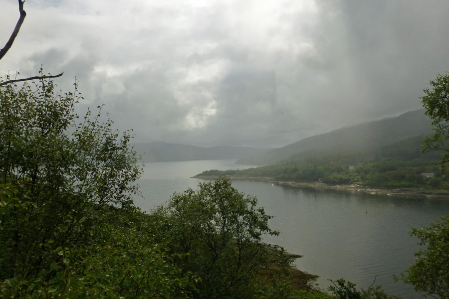 Loch Sunart from the Salen Oakwoods on a balmy summers day