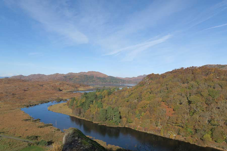 Looking down The River Shiel from Shielfoot Torr