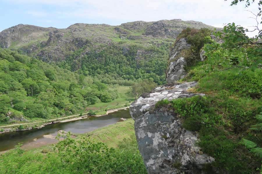Looking over The River Shiel from Shielfoot Torr