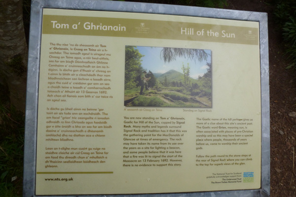 Interpretation Board by Signal Rock