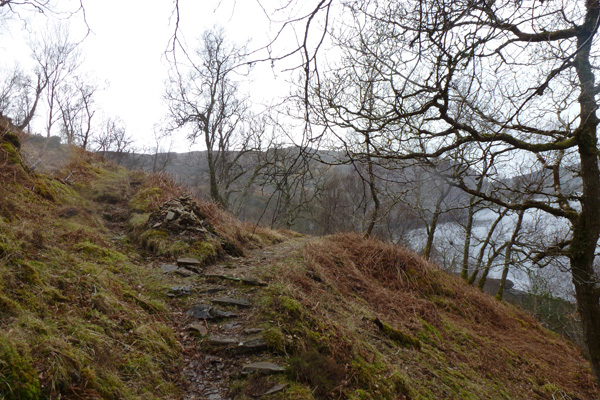 The Silver walk joins up with the Blain Burn and Castle Tioram walk