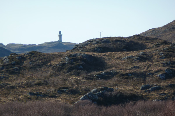 Ardnamurchan lighthouse in the distance