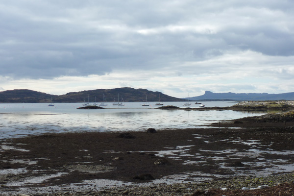 Looking onto the Sgurr of Eigg