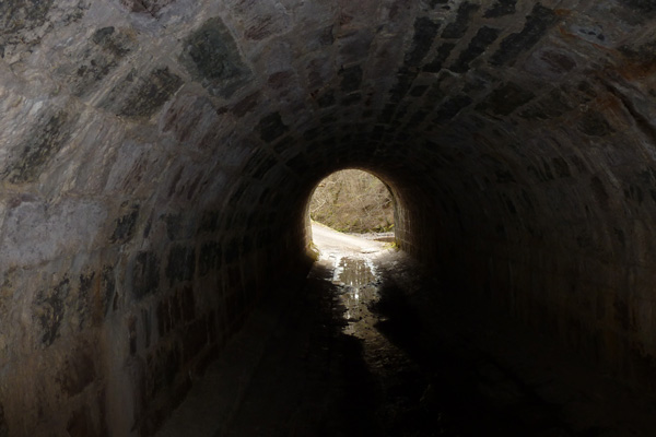 Pedestrian tunnel under the Caledonian Canal-Shengain Aqueduct