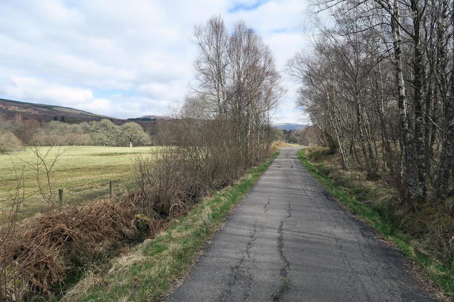 A short walk along a quiet road