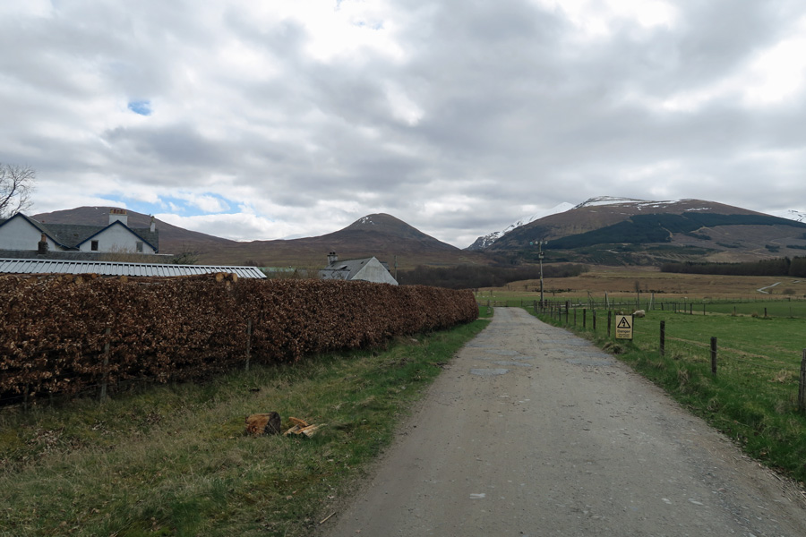 The track passes Corriechoille Lodge