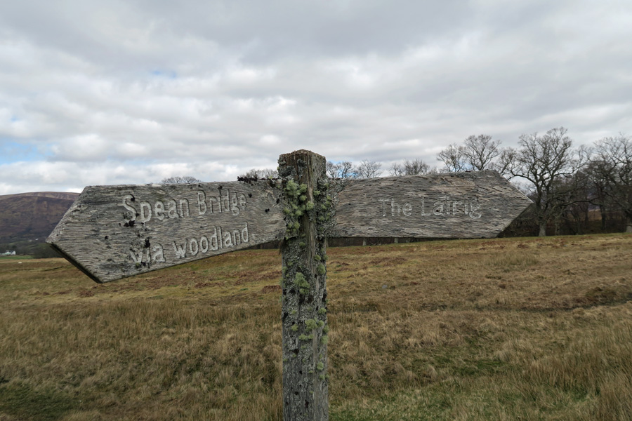 The old sign to The Lairig