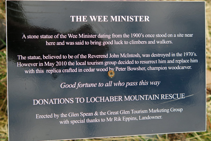 The small plaque by The Wee Minister