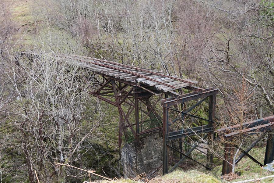 The old bridge over Allt leachdach gorge
