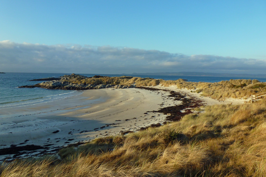 Camusdarach Beach in winter