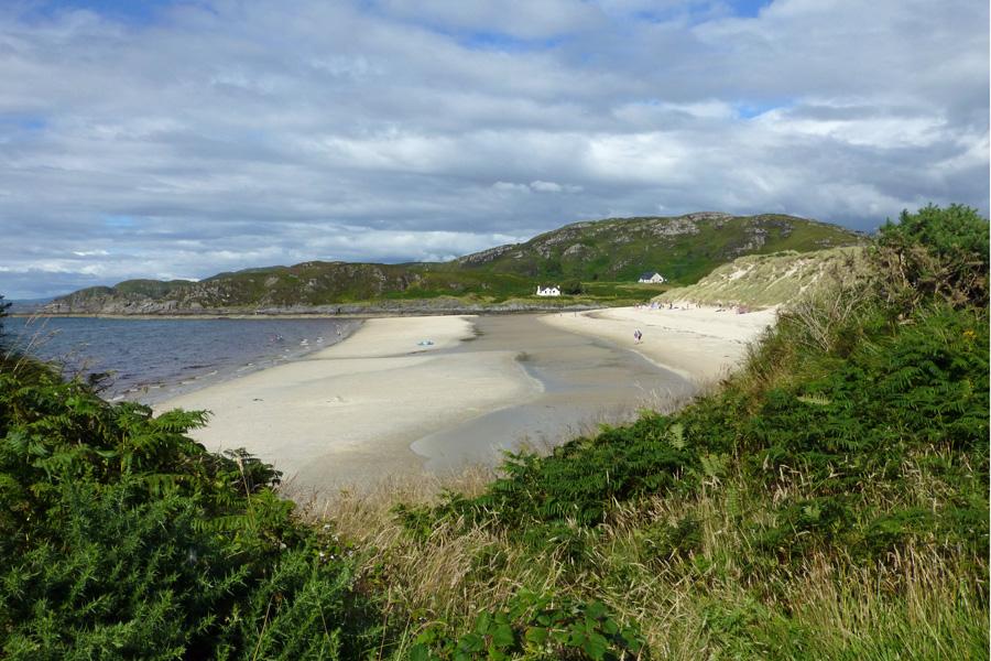 A view over Camusdarach beach