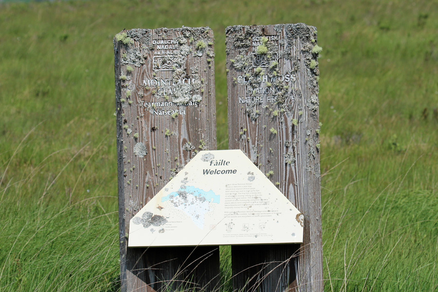 The old NNR sign at Claish Moss