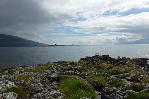 Looking down Loch Linnhe from Rubha Mor point