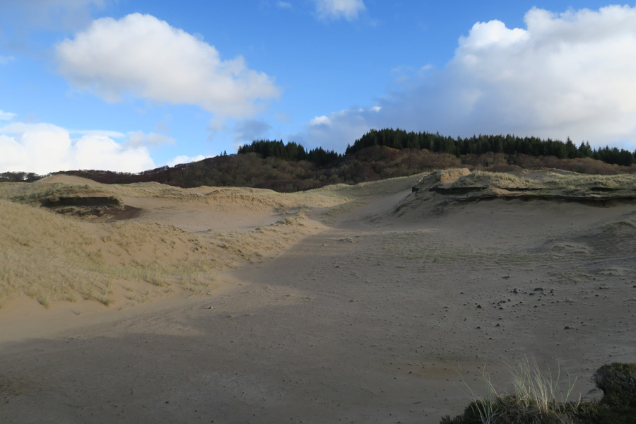 Cul na Croise is notable for its excellent mobile dune system