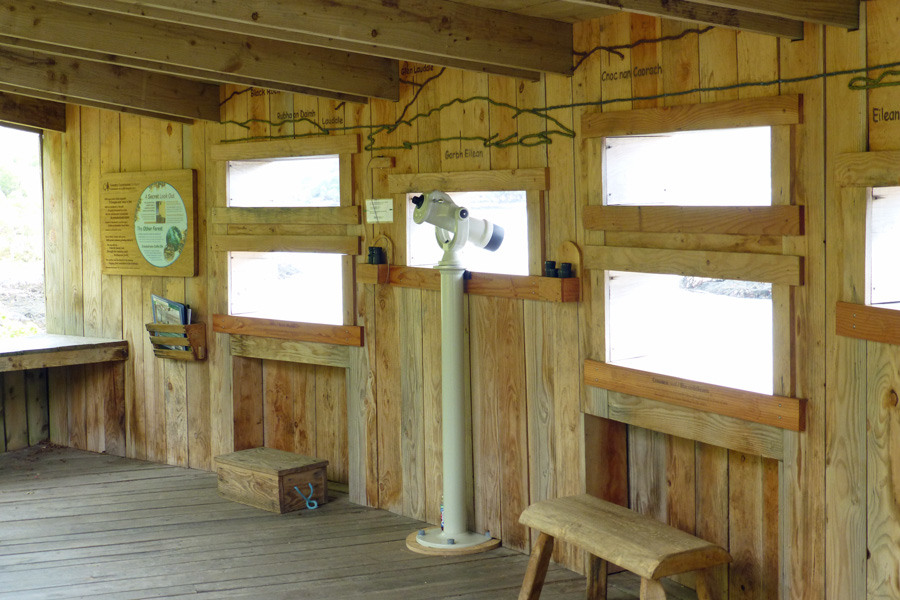 Inside the Garbh Eilean Wildlife Hide