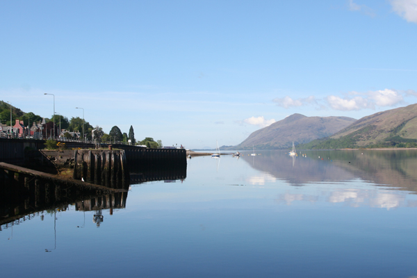 Looking down Loch Linnhe from Fort William