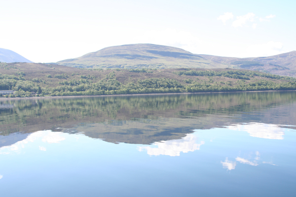 Great reflections on the loch on a calm day