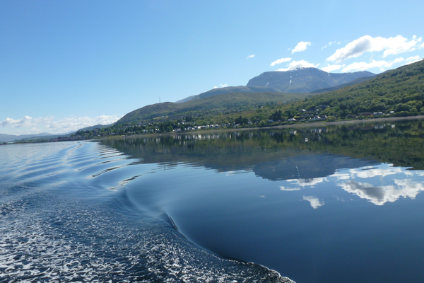 Looking back up Loch Linnhe