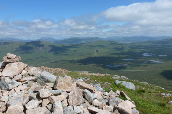 Stunning views over Rannoch Moor from one of the viewpoints
