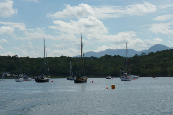 Yachts moored at Arisaig