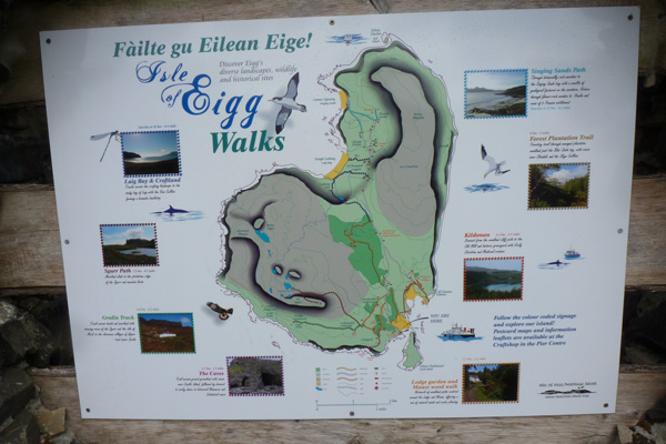 The Isle of Eigg has some community waymarked routes