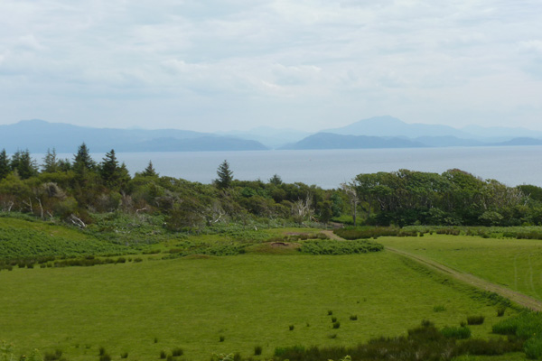 Looking back towards the mainland