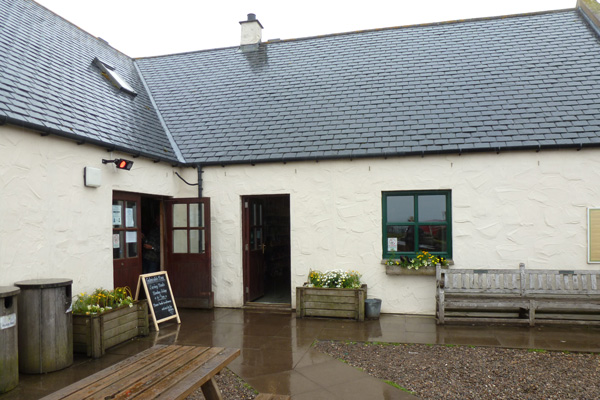 The cafe, craft shop and general store at Eigg ferry terminal