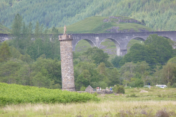 The Glenfinnan monument and viaduct