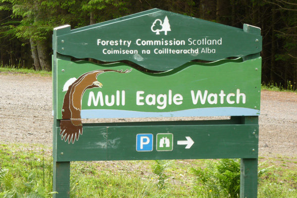 Mull Eagle Watch sign