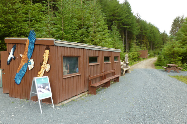 The wooden hide and interpretation centre