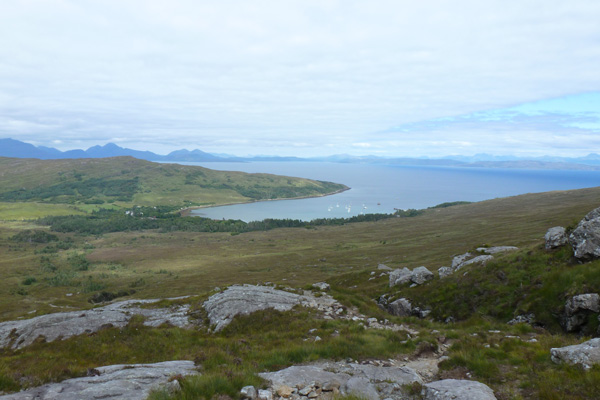 The view from the viewpoint on the Coire Dubh Trail