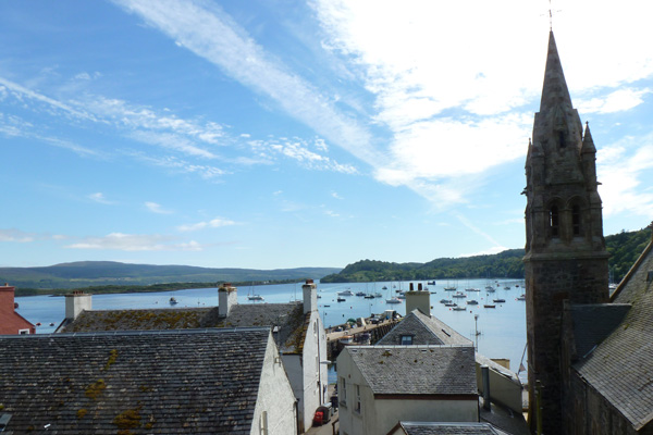 Looking down from An Tobar Art Centre into Tobermory