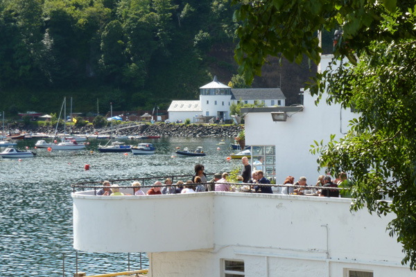 Looking over the Pier to Tobermory Harbour Visitor Centre