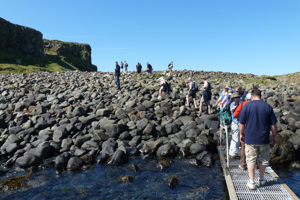 Disembarking the boat onto Lunga