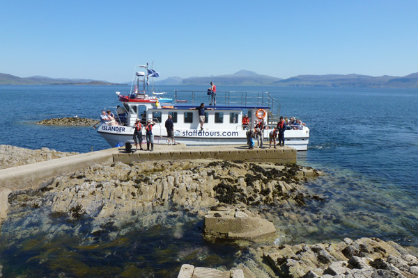 The landing point at Staffa